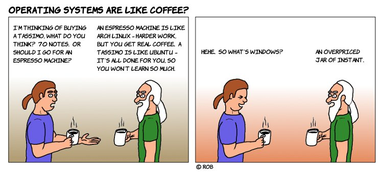 Operating Systems are like coffee?